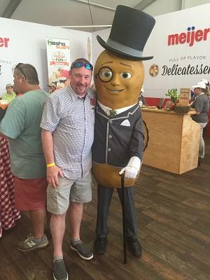 Scott and Mr. Peanut