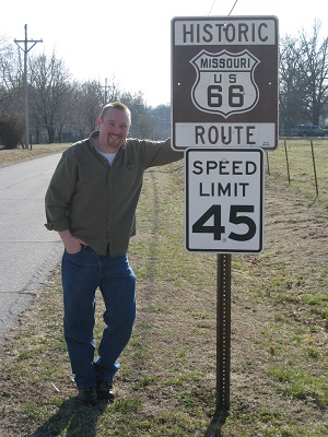 Scott along Route 66