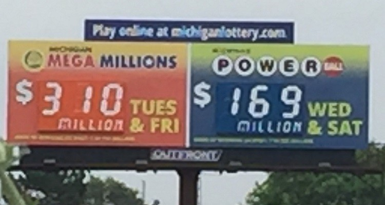 Michigan Sate Lottery Billboard