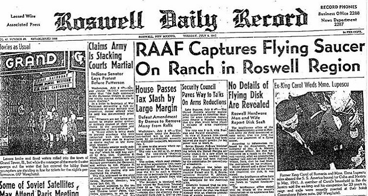 Roswell Incident Newspaper Clipping