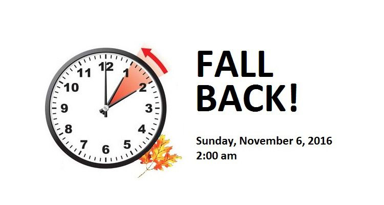Fall Back Time Change