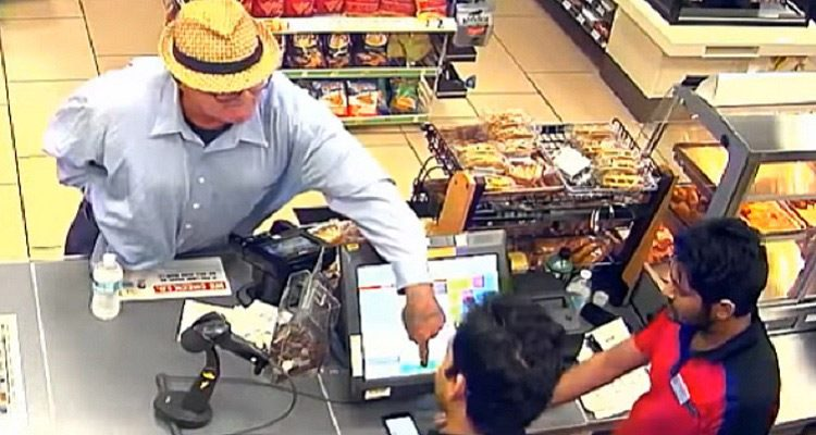 Man Robs Store with Finger