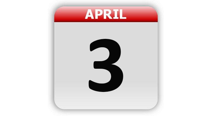 April 3