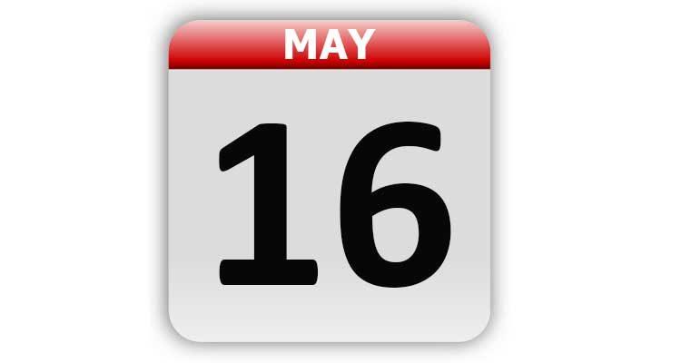 May 16