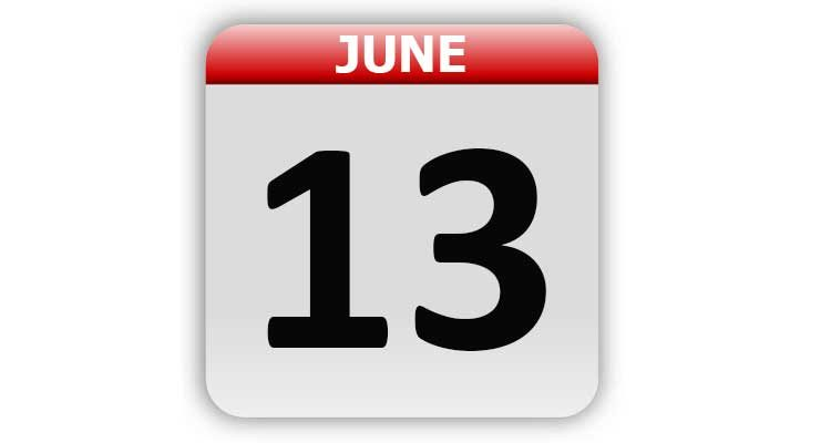 June 13
