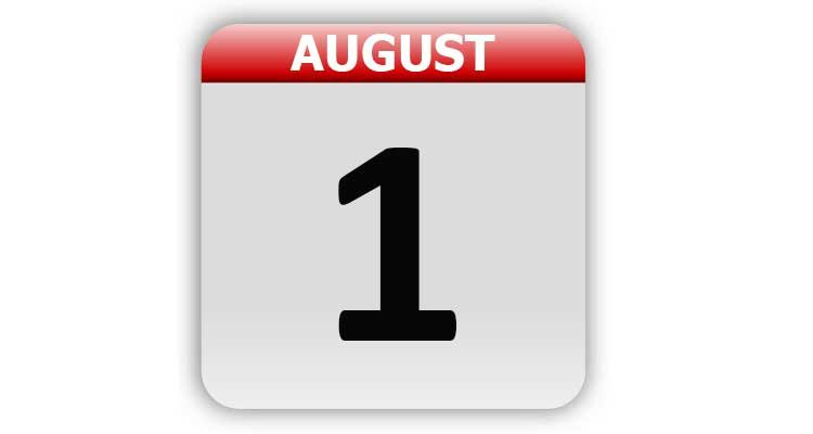 August 1