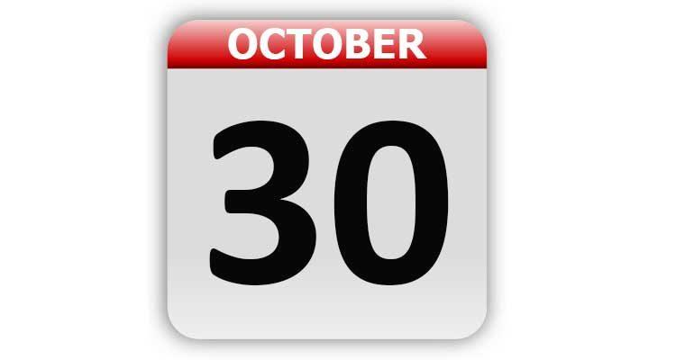 October 30