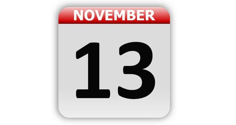 November 13