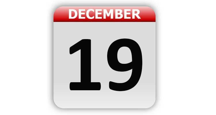 December 19