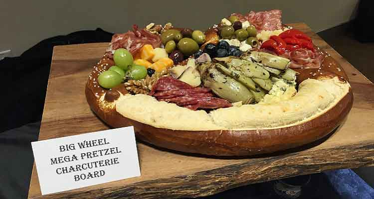 Big Wheel Mega Pretzel Charcuterie Board