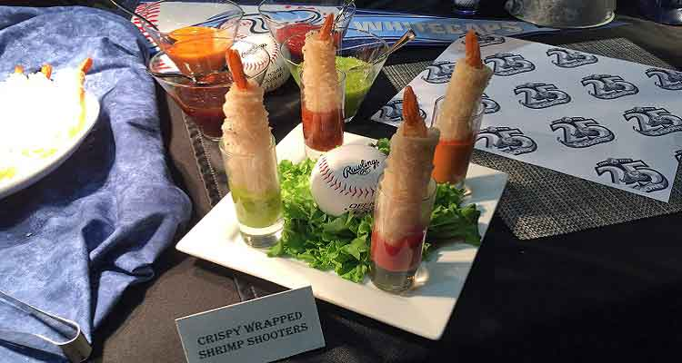 Crispy Wrapped Shrimp Shooters