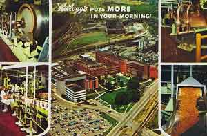 Kellogg's Cereal Factory Postcard