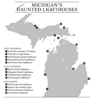 Map of Haunted Lighthouses