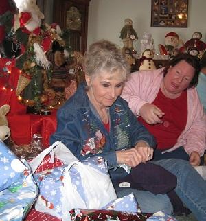Mom and Debbie Christmas 2009