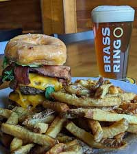 Paczki Burger at Brass Ring Brewery