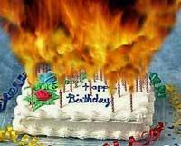 Birthday Cake on Fire
