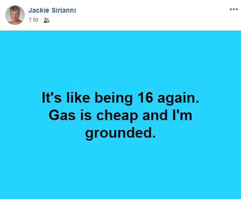 Jackie Facebook Post
