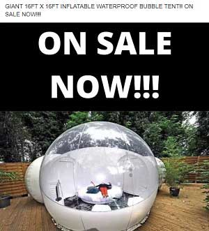 Waterproof Bubble Tent